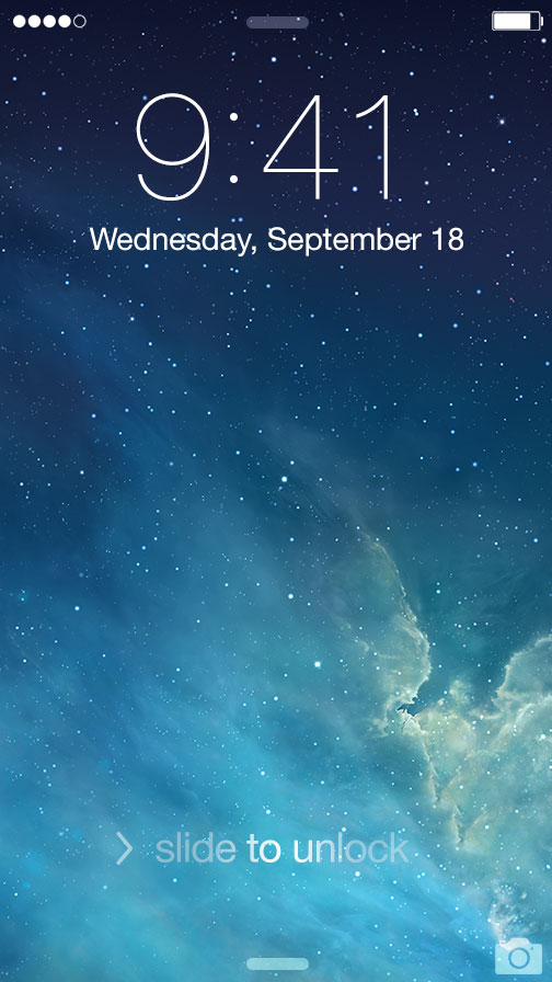 ios7 locksceen redesign
